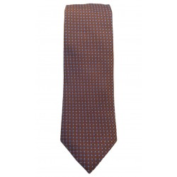 Silk tie 7 cm Altea (blue-brown)