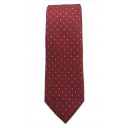 Γραβάτα πουά μεταξωτή 7 εκ. Αltea (κόκκινη)