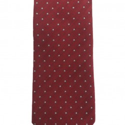 Silk tie polka dot 7 cm Altea (red)
