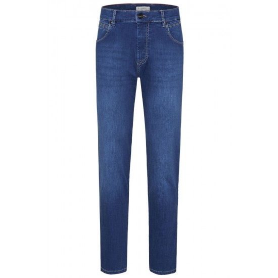 Jeans straight slim fit BUGATTI (μπλε)
