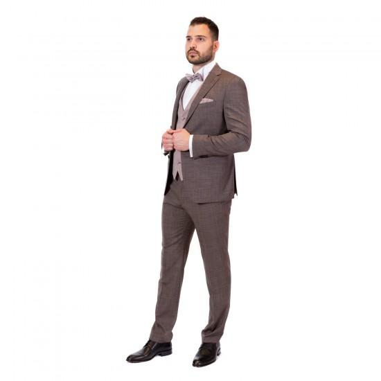 Κουστούμι slim fit DIGEL (elephant γκρι)