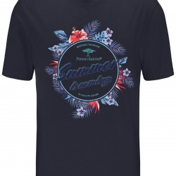 T-Shirt με summer print Fynch-Hatton (μπλε σκούρο)