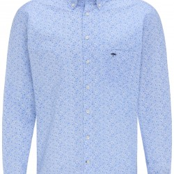Patterned Casual-Fit Butto-Down-Shirt Fynch-Hatton (blue flowers)