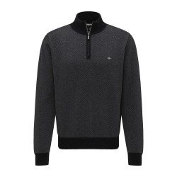 Πλεκτό Half-Zip FYNCH HATTON (charcoal)