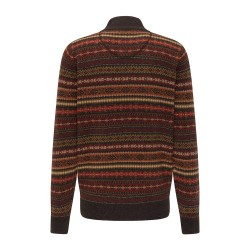 Πλεκτό Half-Zip FYNCH HATTON (arabica-toscana- terracotta)