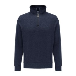 Πλεκτό Half-Zip FYNCH HATTON (navy)
