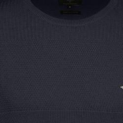Πλεκτό O-neck FYNCH HATTON (μπλε)