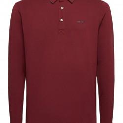 Μπλούζα Polo μακρυμάνικη GEOX (κόκκινο)