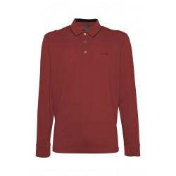 Μπλούζα Polo μακρυμάνικη GEOX (μπορντό)