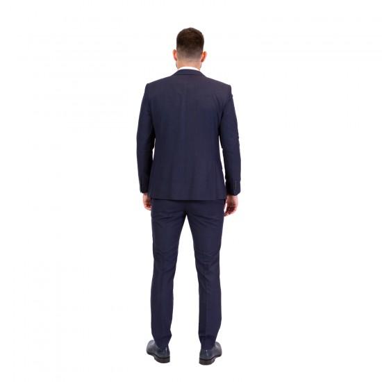 Κουστούμι slim fit GUY LAROCHE με (μπλέ)