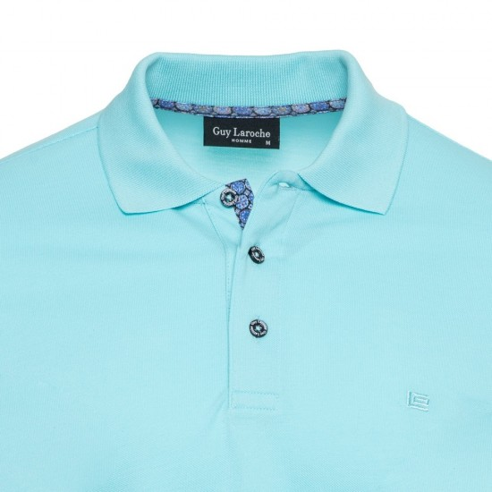 Short Sleeve Polo Guy Laroche (turquoise)