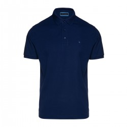 Κοντομάνικο Polo Shirt Prima Cotton Guy Laroche (μπλε)