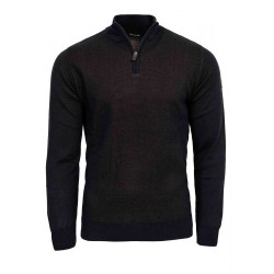 KnitSweater Half-Zip Guy Laroche (brown)