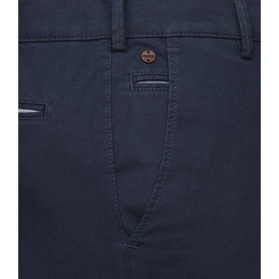 Παντελόνι Chino BONN Micro-Structure cotton Modern Fit MEYER (μπλέ)