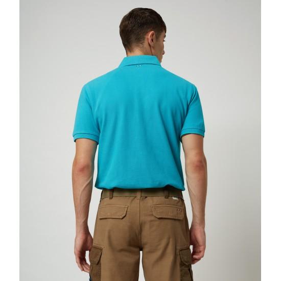 Short Sleeve Polo EOLANOS  Napapijri (turquoise)