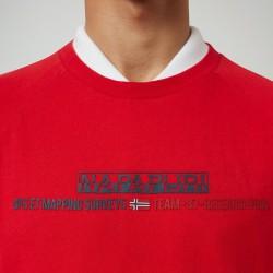 Short sleeve T-Shirt SASTIA Napapijri (red)