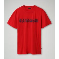 Κοντομάνικο T-Shirt SOLANOS Napapijri (κόκκινο)