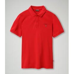 Short Sleeve Polo ELBAS 3 Napapijri (red)