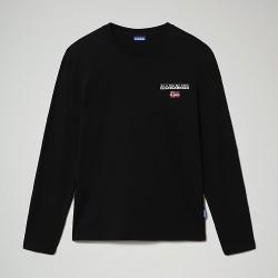 Μπλούζα μακρυμάνικη Ice Napapijri (black)