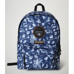 Backpack Voyage S Print Napapijri (μπλε)