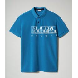 Short Sleeve Polo EALLAR Napapijri  (royal blue)