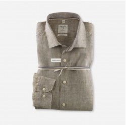 Linen shirt slim fit smart business Kent OLYMP