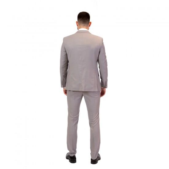 Κουστούμι slim fit REPORTER (γκρι)
